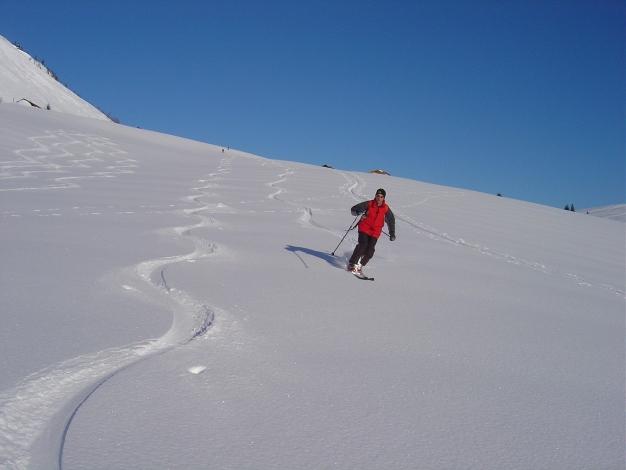 Foto: Manfred Karl / Ski Tour / Hoher First und Dürlstein aus dem Ackersbachgrund / Abfahrt von der Genneralm in den Ackersbachgrund / 20.12.2008 12:44:23