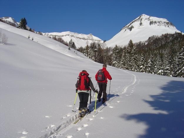 Foto: Manfred Karl / Ski Tour / Hoher First und Dürlstein aus dem Ackersbachgrund / Gruberhorn und Gennerhorn / 20.12.2008 12:42:35