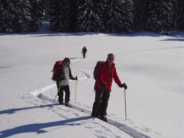 Foto: Manfred Karl / Ski Tour / Hoher First und Dürlstein aus dem Ackersbachgrund / Start im Ackersbachgrund / 20.12.2008 12:42:06