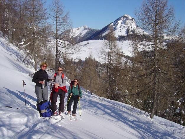 Foto: Manfred Karl / Ski Tour / Hoher First und Dürlstein aus dem Ackersbachgrund / Aufstieg zur Moosangerlalm / 20.12.2008 12:41:01