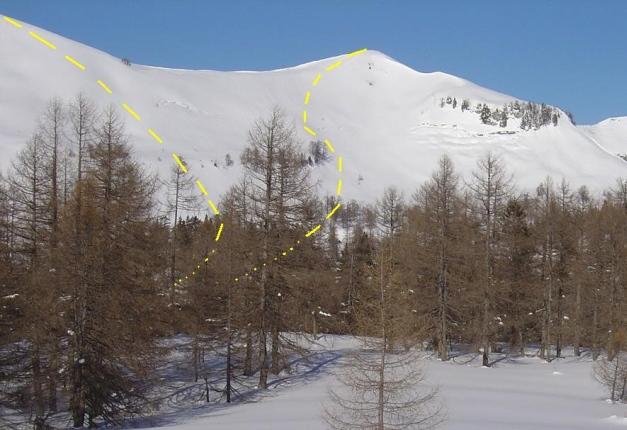 Foto: Manfred Karl / Ski Tour / Hoher First und Dürlstein aus dem Ackersbachgrund / Die Abfahrten vom First und Dürlstein zur Moosangerlalm / 20.12.2008 12:40:40