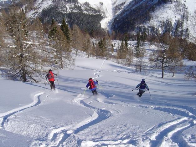 Foto: Manfred Karl / Ski Tour / Hoher First und Dürlstein aus dem Ackersbachgrund / Traumhänge in den Ackersbachgrund / 20.12.2008 12:39:55
