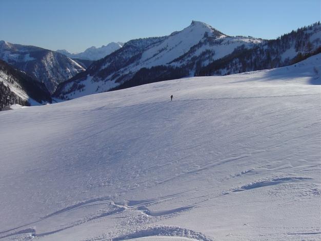 Foto: Manfred Karl / Ski Tour / Hoher First und Dürlstein aus dem Ackersbachgrund / Rückweg zur Genneralm / 20.12.2008 12:38:48