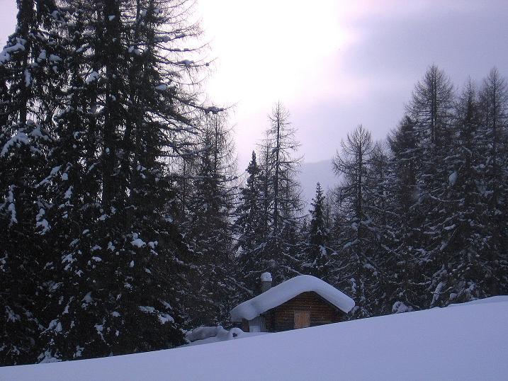 Foto: Andreas Koller / Ski Tour / Aus dem Val Müstair auf den Piz Dora (2951m) / Bei der Funtauna Grossa / 23.12.2008 16:15:28