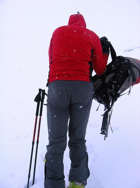 Foto: Andreas Koller / Ski Tour / Aus dem Val Müstair auf den Piz Dora (2951m) / Letzte Rast vor dem Gipfelsturm / 23.12.2008 16:13:48
