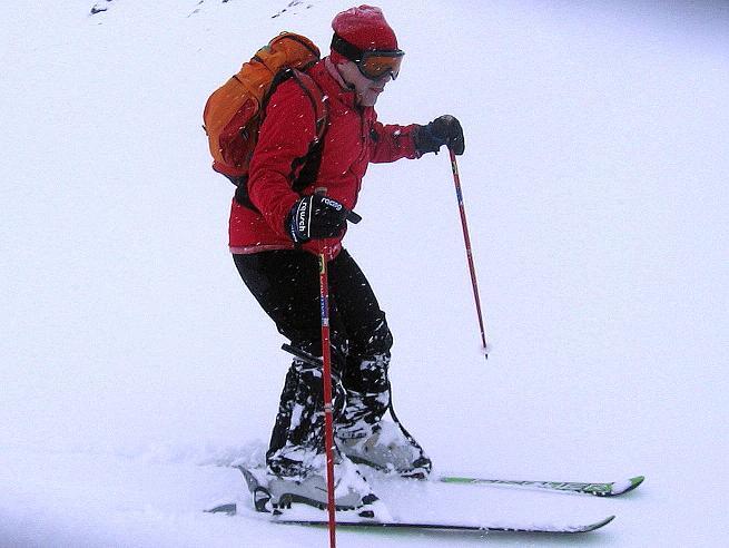 Foto: Andreas Koller / Ski Tour / Aus dem Val Müstair auf den Piz Dora (2951m) / Pulverschnee, aber schlechte Sicht / 23.12.2008 16:11:22