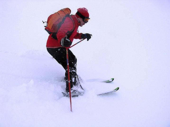 Foto: Andreas Koller / Ski Tour / Aus dem Val Müstair auf den Piz Dora (2951m) / Schwierige Sichtverhältnisse im freien Gelände / 23.12.2008 16:10:31