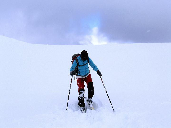 Foto: Andreas Koller / Ski Tour / Hoch über Sils auf die Furtschellas West (2840m) / Anstieg über weite Flächen / 24.12.2008 00:52:01