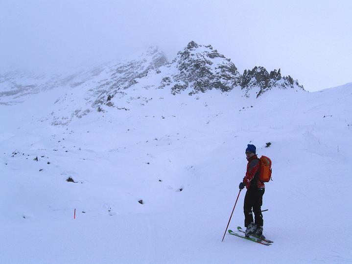 Foto: Andreas Koller / Ski Tour / Hoch über Sils auf die Furtschellas West (2840m) / Anstieg Richtung Furtschellas / 24.12.2008 00:51:18