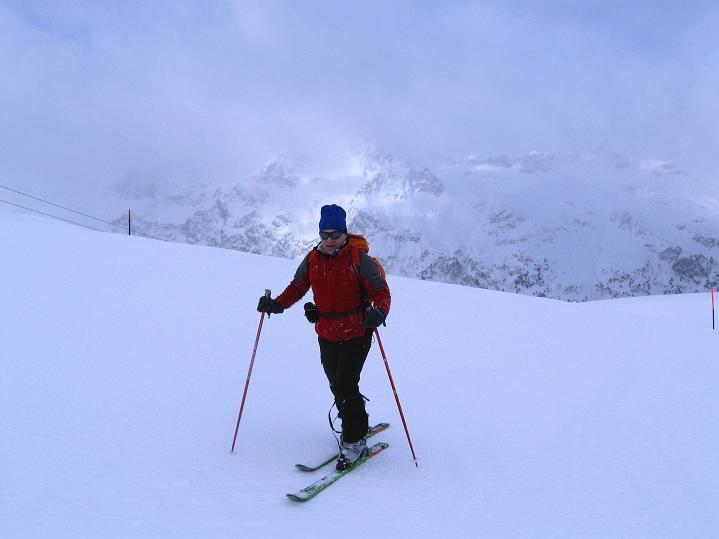 Foto: Andreas Koller / Ski Tour / Hoch über Sils auf die Furtschellas West (2840m) / Blick nach W / 24.12.2008 00:51:00
