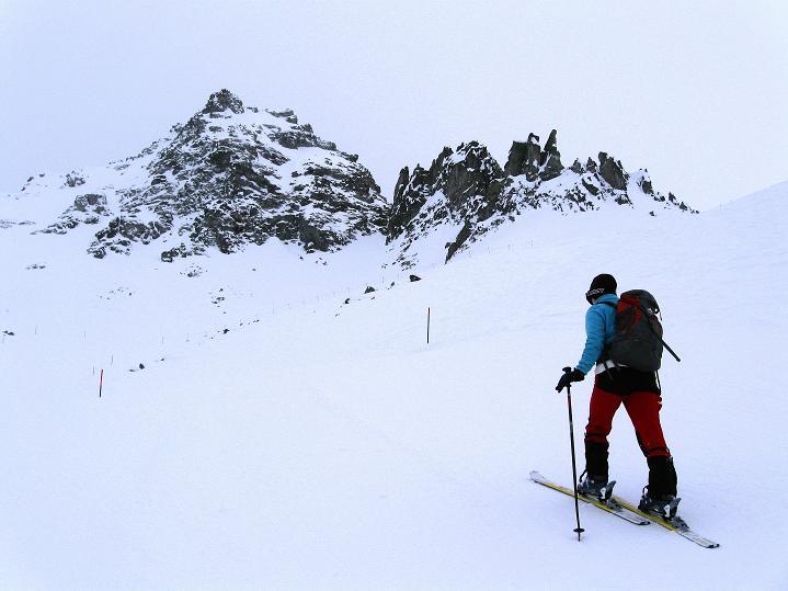 Foto: Andreas Koller / Ski Tour / Hoch über Sils auf die Furtschellas West (2840m) / Den Furtschellas entgegen / 24.12.2008 00:50:26