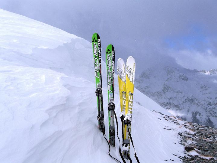 Foto: Andreas Koller / Ski Tour / Hoch über Sils auf die Furtschellas West (2840m) / Furtschellas-Sattel / 24.12.2008 00:48:43