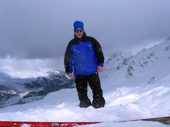 Foto: Andreas Koller / Ski Tour / Hoch über Sils auf die Furtschellas West (2840m) / Am westlichen Furtschella-Gipfel / 24.12.2008 00:45:13