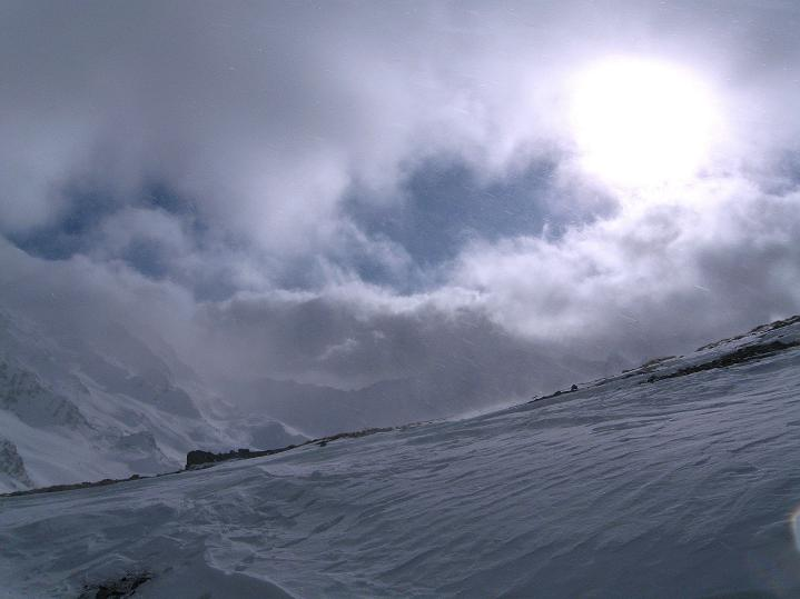 Foto: Andreas Koller / Ski Tour / Hoch über Sils auf die Furtschellas West (2840m) / Im Furtschellas-Sattel / 24.12.2008 00:44:16