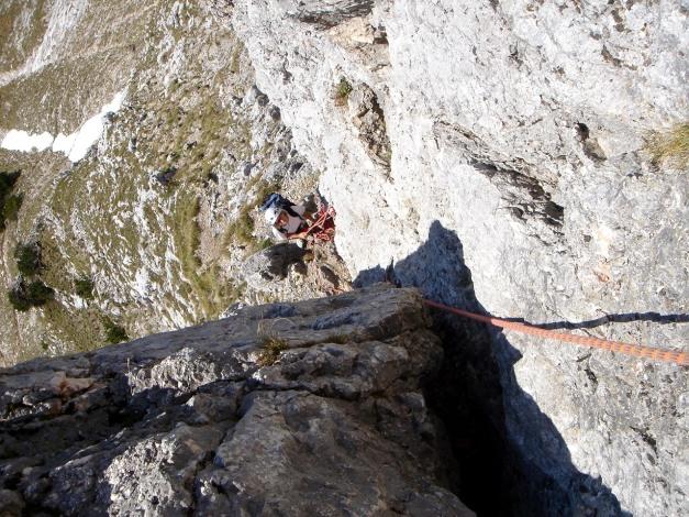 Foto: Manfred Karl / Kletter Tour / Südwand III+ / Einstiegsriss / 17.07.2009 17:47:25