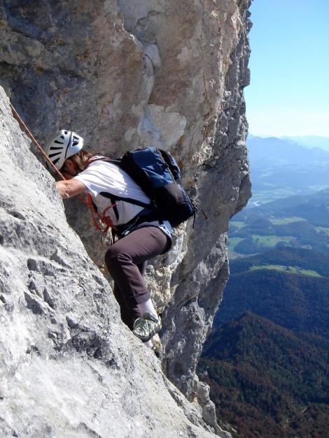 Foto: Manfred Karl / Kletter Tour / Südwand III+ / Nach dem schiefen Riss / 17.07.2009 17:48:13