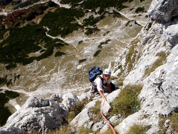 Foto: Manfred Karl / Kletter Tour / Südwand III+ / Seillänge nach dem Wandbuch / 17.07.2009 17:49:47