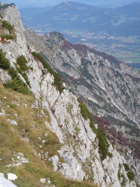 Foto: Manfred Karl / Kletter Tour / Südwand III+ / Blick auf den obersten Teil des Klettersteiges / 17.07.2009 17:51:23