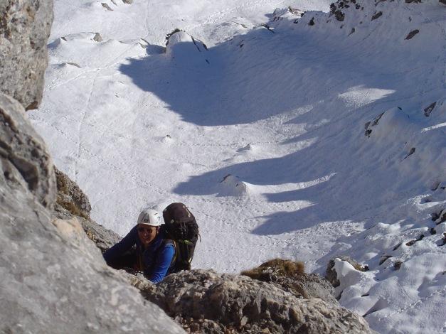 Foto: Manfred Karl / Kletter Tour / Südwand III+ / Erste Seillänge - sommerlich! / 17.07.2009 17:54:59