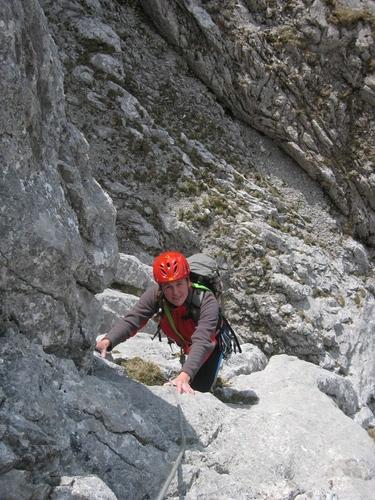 Foto: phouse / Kletter Tour / Sommer, Sonne, Sonnenschein IV /  28.05.2012 Pfingstmontag. Beim Ausstieg aus der Schluchtrinne - Beginn der Schwierigkeiten III-IV / 10.06.2012 16:07:35