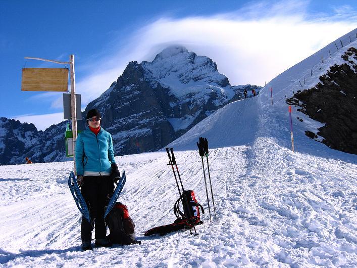 Foto: Andreas Koller / Schneeschuh Tour / Schneeschuh-Trail aufs Faulhorn (2681m) / Wetterhorn (3701 m) / 06.01.2009 23:53:30