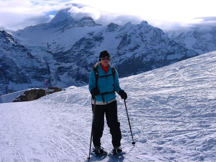 Foto: Andreas Koller / Schneeschuh Tour / Schneeschuh-Trail aufs Faulhorn (2681m) / Anstieg vom First / 06.01.2009 23:52:31