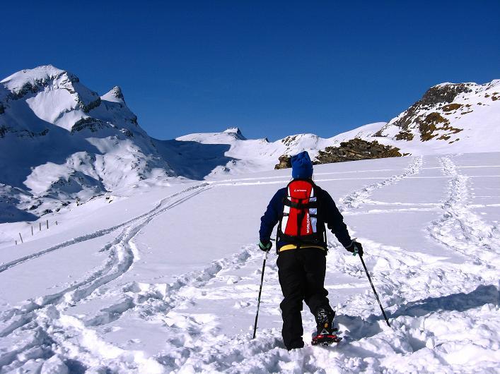 Foto: Andreas Koller / Schneeschuh Tour / Schneeschuh-Trail aufs Faulhorn (2681m) / In der Bildmitte: das Faulhorn / 06.01.2009 23:52:15