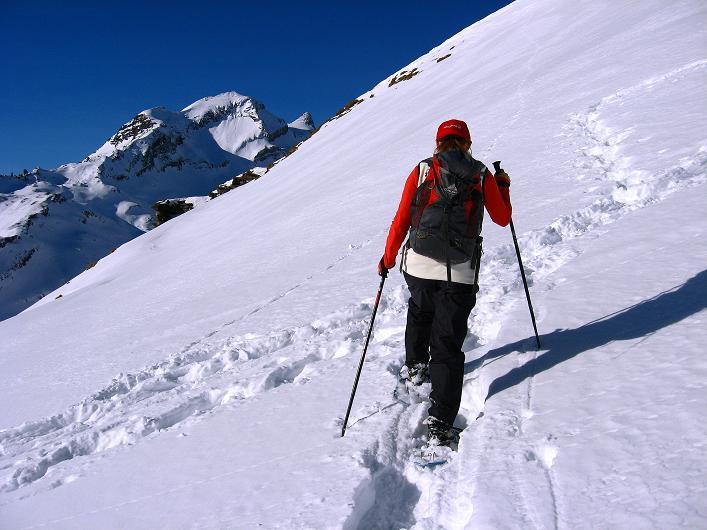 Foto: Andreas Koller / Schneeschuh Tour / Schneeschuh-Trail aufs Faulhorn (2681m) / Abwechslungsreiche Passage im Aufstieg zum Faulhorn / 06.01.2009 23:49:35
