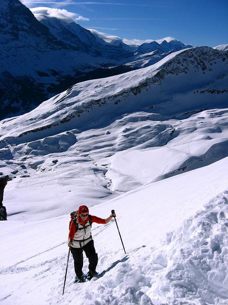 Foto: Andreas Koller / Schneeschuh Tour / Schneeschuh-Trail aufs Faulhorn (2681m) / Kurze steile Passage / 06.01.2009 23:48:42