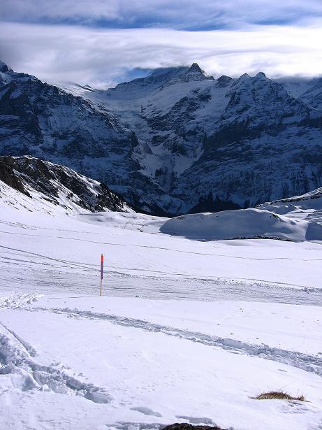 Foto: Andreas Koller / Schneeschuh Tour / Schneeschuh-Trail aufs Faulhorn (2681m) / Blick zum Oberen Grindelwaldgletscher / 06.01.2009 23:44:00