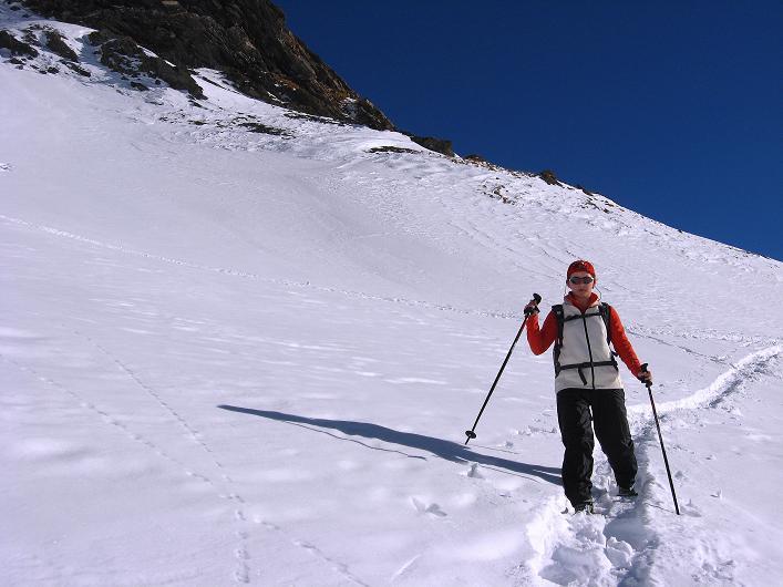 Foto: Andreas Koller / Schneeschuh Tour / Schneeschuh-Trail aufs Faulhorn (2681m) / Oberhalb des Bachsees / 06.01.2009 23:40:26
