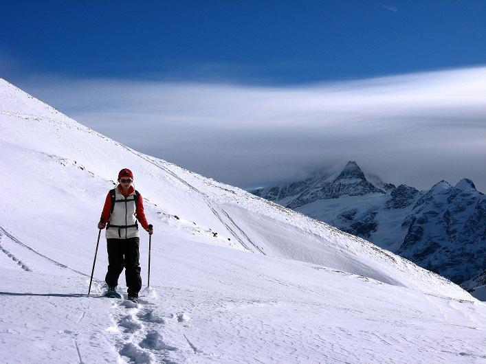 Foto: Andreas Koller / Schneeschuh Tour / Schneeschuh-Trail aufs Faulhorn (2681m) / Kurzer Abstieg zum Bachsee / 06.01.2009 23:40:09