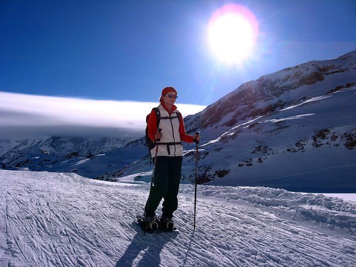 Foto: Andreas Koller / Schneeschuh Tour / Schneeschuh-Trail aufs Faulhorn (2681m) / Föhnwolken beim Bachsee / 06.01.2009 23:39:44