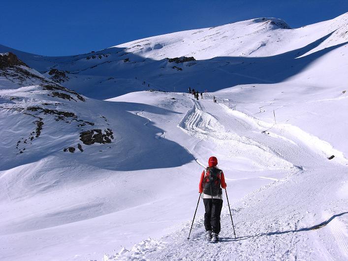 Foto: Andreas Koller / Schneeschuh Tour / Schneeschuh-Trail aufs Faulhorn (2681m) / Aufstieg beim Bachsee zum Faulhorn / 06.01.2009 23:38:53