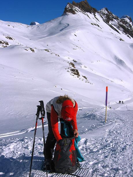 Foto: Andreas Koller / Schneeschuh Tour / Schneeschuh-Trail aufs Faulhorn (2681m) / Rast vor dem Ritxengrätli / 06.01.2009 23:37:49