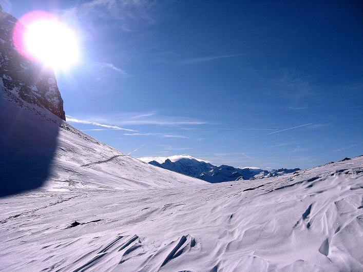 Foto: Andreas Koller / Schneeschuh Tour / Schneeschuh-Trail aufs Faulhorn (2681m) / Der Sattel des Gassenbodens / 06.01.2009 23:34:09