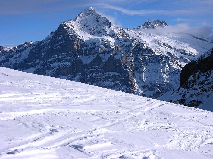 Foto: Andreas Koller / Schneeschuh Tour / Schneeschuh-Trail aufs Faulhorn (2681m) / Wetterhorn (3701 m) / 06.01.2009 23:30:22