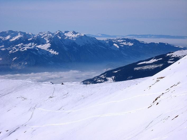 Foto: Andreas Koller / Schneeschuh Tour / Schneeschuh-Trail aufs Faulhorn (2681m) / Blick nach W vom Gassenboden / 06.01.2009 23:29:59