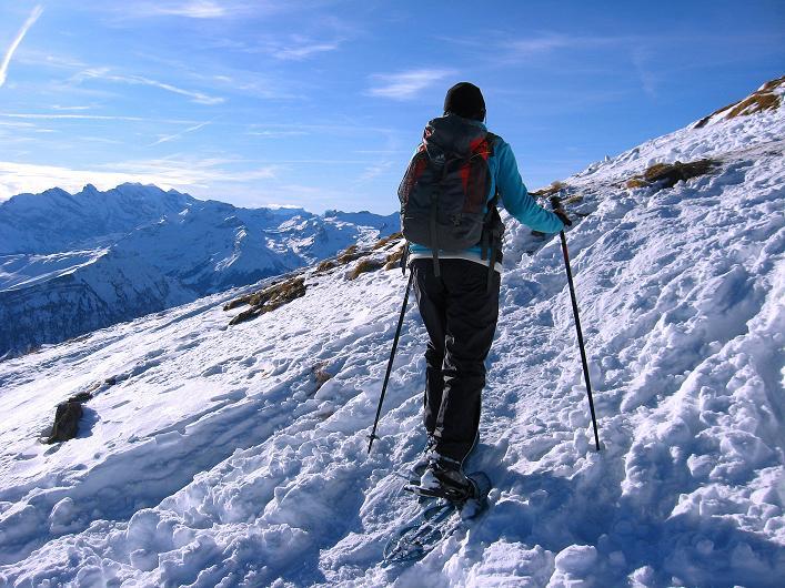 Foto: Andreas Koller / Schneeschuh Tour / Schneeschuh-Trail aufs Faulhorn (2681m) / Letzter steilerer Anstieg zum Faulhorn-Gipfel / 06.01.2009 23:29:13