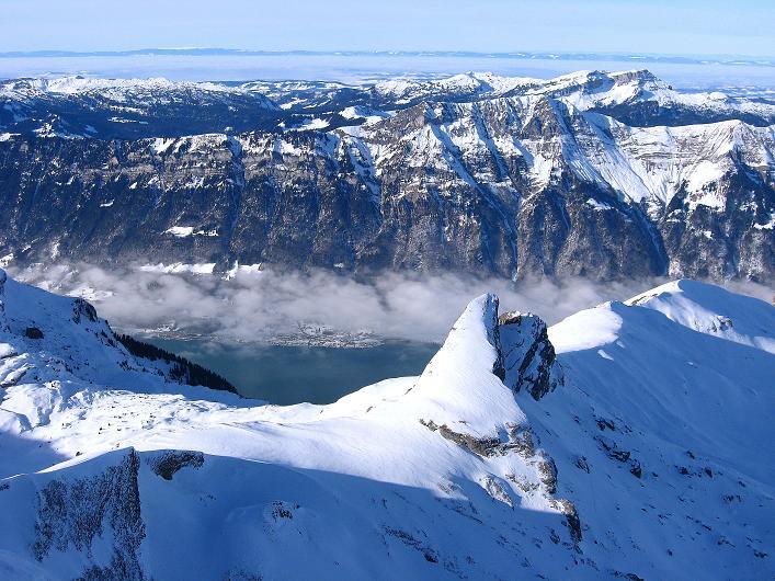 Foto: Andreas Koller / Schneeschuh Tour / Schneeschuh-Trail aufs Faulhorn (2681m) / Brienzer See und Berner Voralpen / 06.01.2009 23:27:16