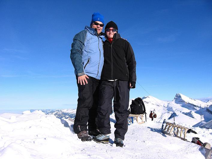 Foto: Andreas Koller / Schneeschuh Tour / Schneeschuh-Trail aufs Faulhorn (2681m) / Faulhorn-Gipfel / 06.01.2009 23:23:56