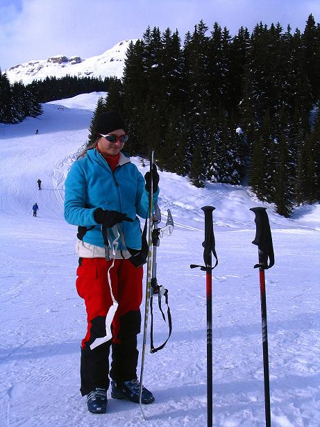 Foto: Andreas Koller / Ski Tour / Aus dem Val Lumnezia auf den Piz Sezner (2309m) / Ausgangspunkt Trial / 08.01.2009 22:08:05
