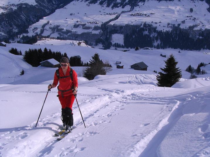 Foto: Andreas Koller / Ski Tour / Aus dem Val Lumnezia auf den Piz Sezner (2309m) / Hoch über dem Val Lumnezia / 08.01.2009 22:05:15