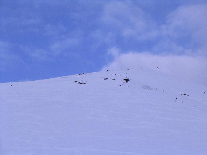 Foto: Andreas Koller / Ski Tour / Aus dem Val Lumnezia auf den Piz Sezner (2309m) / Gipfelflanke / 08.01.2009 22:00:05