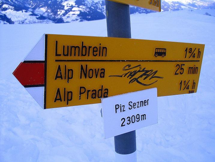 Foto: Andreas Koller / Ski Tour / Aus dem Val Lumnezia auf den Piz Sezner (2309m) / 08.01.2009 21:58:38