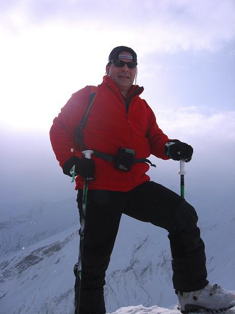 Foto: Andreas Koller / Ski Tour / Piz da Vrin (2563m) / Am Gipfel des Piz da Vrin / 09.01.2009 00:24:03