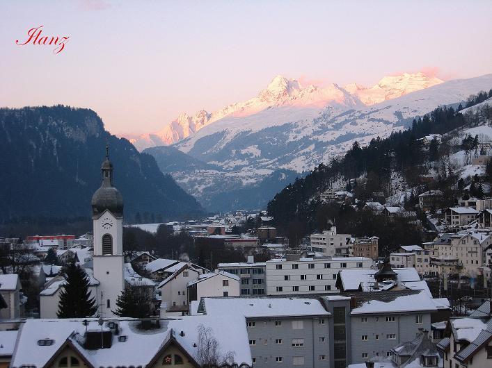 Foto: Andreas Koller / Ski Tour / Vom Zervreilasee auf das Frunthorn (3030m) / Ilanz zum Surselva-Gebiet / 09.01.2009 22:31:37