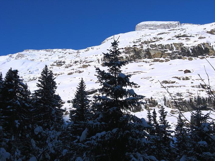 Foto: Andreas Koller / Ski Tour / Vom Zervreilasee auf das Frunthorn (3030m) / Hänge zum Frunthorn / 09.01.2009 22:31:23