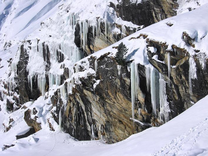 Foto: Andreas Koller / Ski Tour / Vom Zervreilasee auf das Frunthorn (3030m) / 09.01.2009 22:29:34