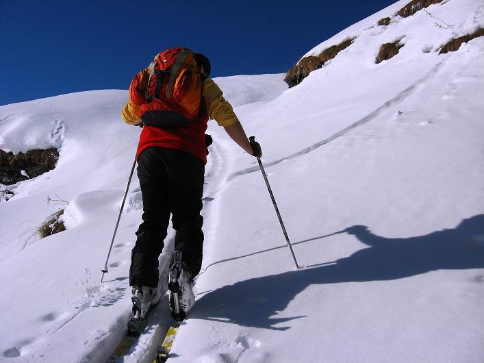 Foto: Andreas Koller / Ski Tour / Vom Zervreilasee auf das Frunthorn (3030m) / 09.01.2009 22:28:52